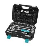 Trusa 25 de chei tubulare Total Industrial, 10 - 32 mm, cutie inclusa