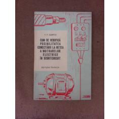 Cum se verifica posibilitatea conectarii la retea a motoarelor electrice in scurtcircuit - F.F. Karpov