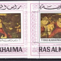 Ras al Khaima  1970  pictura Murillo  MI   bl.78 A +B  MNH  w66