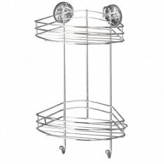 Suport accesorii de baie Milazzo Two Corner - Wenko, Gri & Argintiu