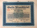 100 Goldmark Titlu de stat Germania 1929