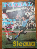 Revista fotbal-steaua-1985-ion alexandrescu,emeric jenei,lacatus,boloni,lucescu