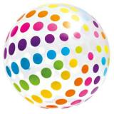 Minge gonflabila transparenta, model buline multicolore, 183 cm