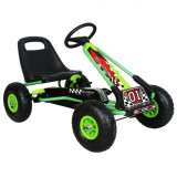 Kart M-Toys cu pedale si volan, Verde, KidsCare