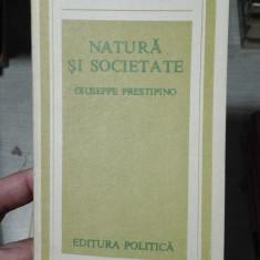 Natura si societate – Giuseppe Prestipino