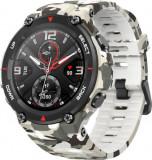 Smartwatch Huami Amazfit T-REX, Display AMOLED 1.3inch, Bluetooth, GPS, Android/iOS (Alb/Negru)