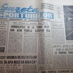 gazeta sporturilor 23 februarie 1990-atletism,gimnastica ritmica