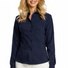 Camasa clasica, bleumarin, cu garnitura pe laterale, 2XL, L, M, S, XL