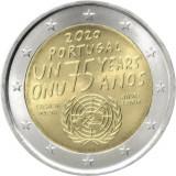 NOU - Portugalia moneda comemorativa 2 euro 2020 - 75 ani ONU - UNC