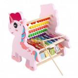Unicorn educativ 3 in1 din lemn