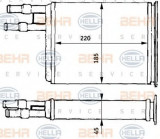 Radiator incalzire interior FIAT DUCATO bus (230) (1994 - 2002) HELLA 8FH 351 313-171