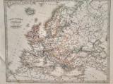 Harta politica a Europei, tiparita in 1872