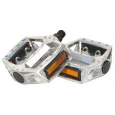 Pedale oblice pentru bicicleta, din aluminiu, argintiu, 50121