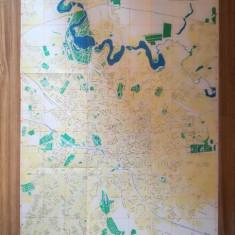 Hartă București anii 60