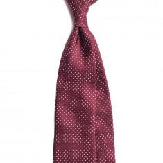 Cravata Handmade Seven Fold din Matase Naturala cu Model Pin Dot