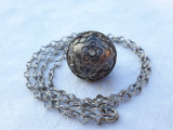MEDALION argint CHEAMA INGERII cu clinchet SPLENDID 1900 FRANTA pe Lant argint