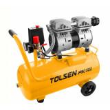 Compresor aer Tolsen, 800 W, 24 L, 7 bar, pompa fara ulei
