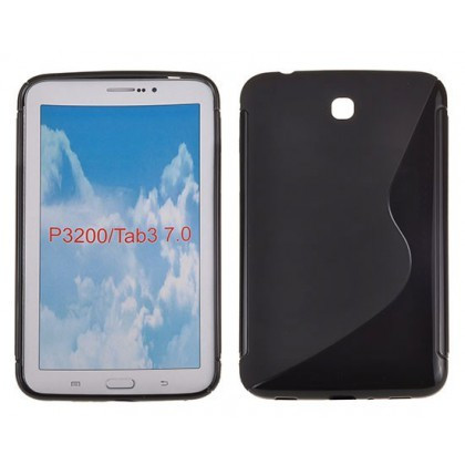 Husa Silicon S-Line Sam Galaxy Tab 3 (7.0inch ) P3200 Negru