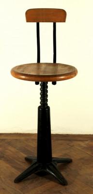 Taburet SINGER Singer taburet scaun Vintage Industrial Singer foto