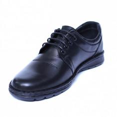 Pantofi barbati din piele naturala, Eddie, Cobra, Negru, 39 EU
