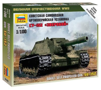 1:100 Self-propelled Gun SU-152 1:100 foto