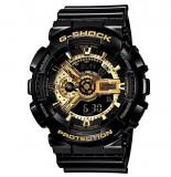 Cumpara ieftin Ceas Sport Casio G-SHOCK GA-110 Black&Gold-NOU ! NEGRU LUCIOS CRONOGRAF ACTIV !, Quartz, Plastic