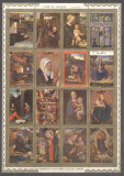 Umm al Qiwain 1972 Paintings, Religion, perf. sheetlet, used M.217