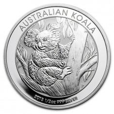 Moneda argint lingou + livrare GRATIS, Koala 2013 1/2 uncie, Australia si Oceania