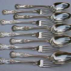Set de cinci linguri cu cinci furculite argintate producator C.R. Carlstrom