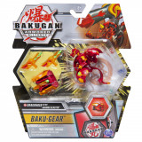 Figurina Bakugan S2 - Ultra Dragonoid cu echipament Baku-Gear Magma Blaster