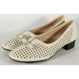 Pantofi office bej perforati gel pe talpa 028650