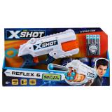Set blaster Zuru X-Shot Reflex 6 cu 8 proiectile si 3 tinte