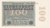 Bancnota Germania 100.000.000 Marci 1923 - P107a UNC