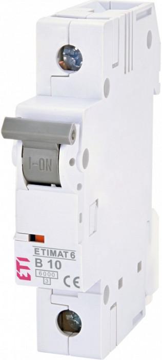 Siguranta automata ETI, 10A, 1P, curba declansare B, curent de rupere 6kA