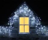 Cumpara ieftin Instalatii 24m turturi perdea franjurata LED Craciun 600 LED multicolor alb blue