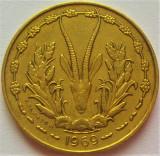 Moneda exotica 10 FRANCI - AFRICA de VEST, anul 1969 *cod 1220