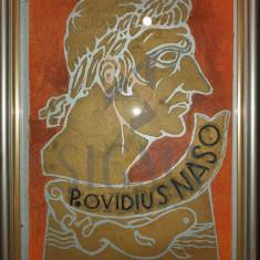 "TABLOU, CRISTEA GROSU, "" P. OVIDIUS NASO "" ilustratie la carte"