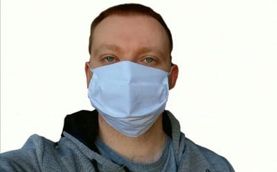 Mască textilă 100% bumbac foto