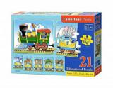 Puzzle educativ Tren, 21 piese, castorland