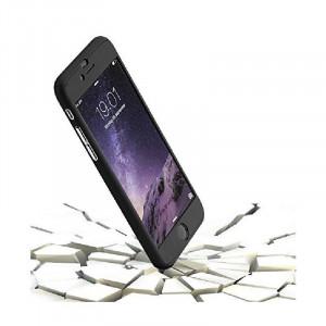 Husa Apple iPhone 6/6S IPAKY Full Cover 360 Negru + Folie Cadou
