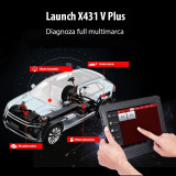 Tester auto profesional wireless diagnoza bi-directional obdii, dbscar, launch x431 v plus