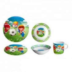 Set serviciu masa din portelan pentru copii FOOTBALL PLAYER, 010785