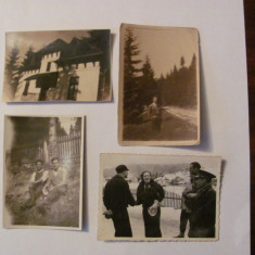 GE - Lot 4 fotografii interbelice (2 x 1929 + '30 + '36) Predeal / format mic