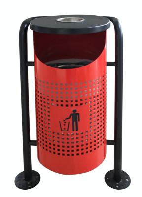 Coș de gunoi în exterior, rosu 36x36x91cm. MN0185112 Raki foto