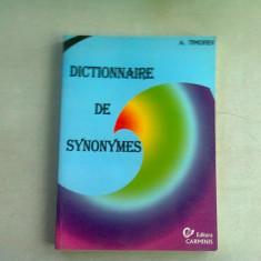DICTIONNAIRE DE SYNONYMES - A. TOMOFIEV (CARTE IN LIMBA FRANCEZA)