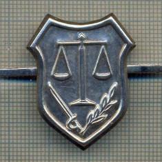 Y 1659 INSIGNA - MILITARA -SEMN DE ARMA -JUSTITIE MILITARA  -PENTRU COLECTIONARI
