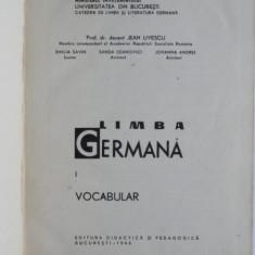 Limba germana. Vocabular - Jean Livescu vol.1
