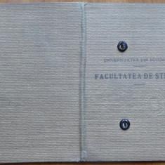 Carnet de student ; Stiinte naturale , 1933 , semnaturi profesori