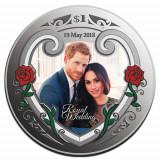 Noua Zeelanda -1 OZ Silver Proof Coin- Nunta Regala Prince Harry & Meghan Markle