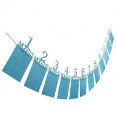 Suport fotografii, pentru bebelusi, 1 - 12 luni, culoare albastru